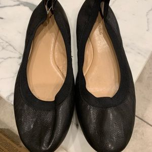 Black flats size 9-10m